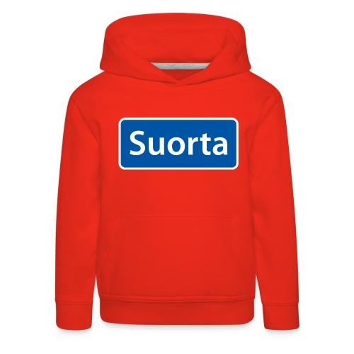 Suorta (Sortland) skilt - Premium Barne-hettegenser