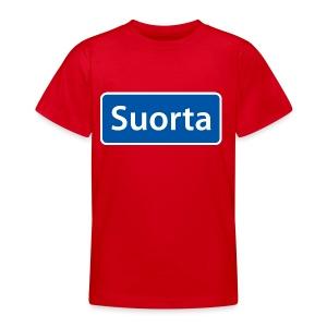 Suorta (Sortland) skilt - T-skjorte for tenåringer