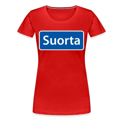 Suorta (Sortland) skilt - Premium T-skjorte for kvinner