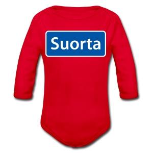 Suorta (Sortland) skilt - Økologisk langermet baby-body