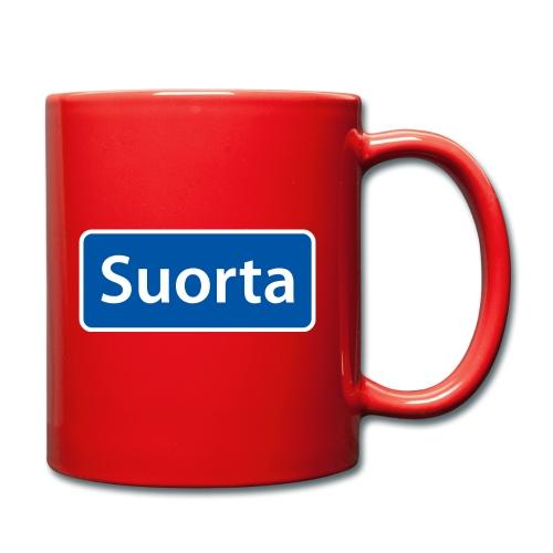 Suorta (Sortland) skilt - Ensfarget kopp