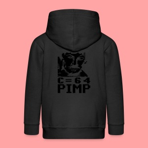 C64 Pimp Tony - Kids' Premium Zip Hoodie