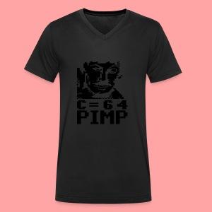 C64 Pimp Tony - Men's Organic V-Neck T-Shirt by Stanley & Stella