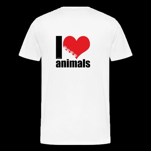 Tasse   VEGAN   I love animals - Männer Premium T-Shirt