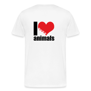 Tasse | VEGAN | I love animals - Männer Premium T-Shirt