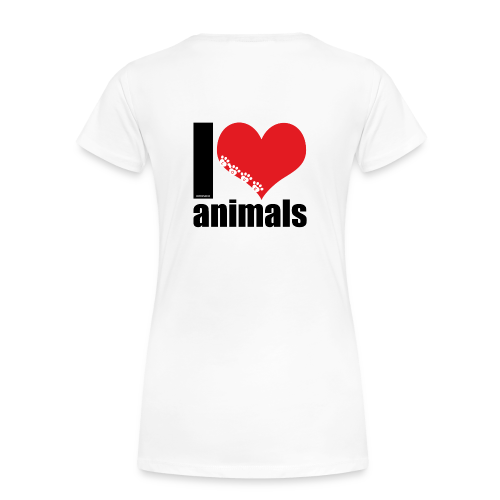 Tasse   VEGAN   I love animals - Frauen Premium T-Shirt