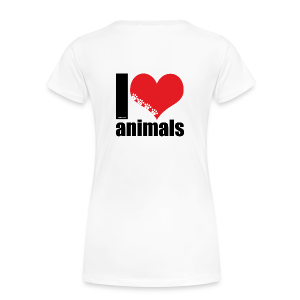 Tasse | VEGAN | I love animals - Frauen Premium T-Shirt