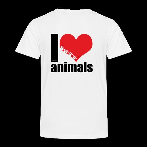 Tasse   VEGAN   I love animals - Kinder Premium T-Shirt