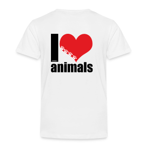 Tasse | VEGAN | I love animals - Kinder Premium T-Shirt