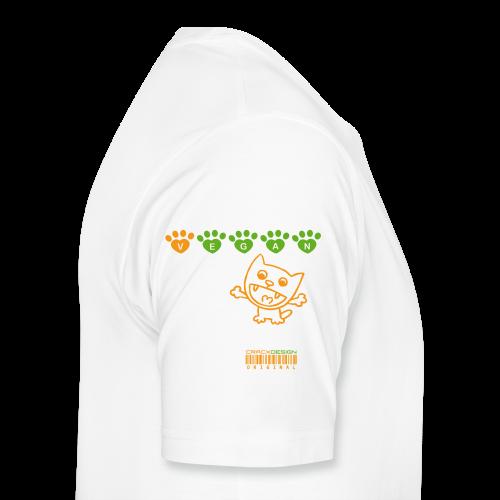 Tasse   VEGAN CAT - Männer Premium T-Shirt