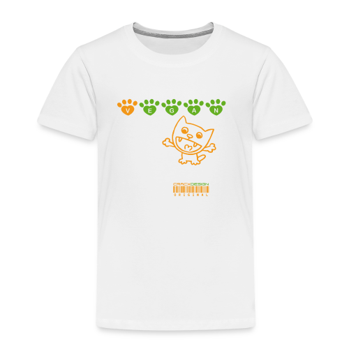 Tasse   VEGAN CAT - Kinder Premium T-Shirt