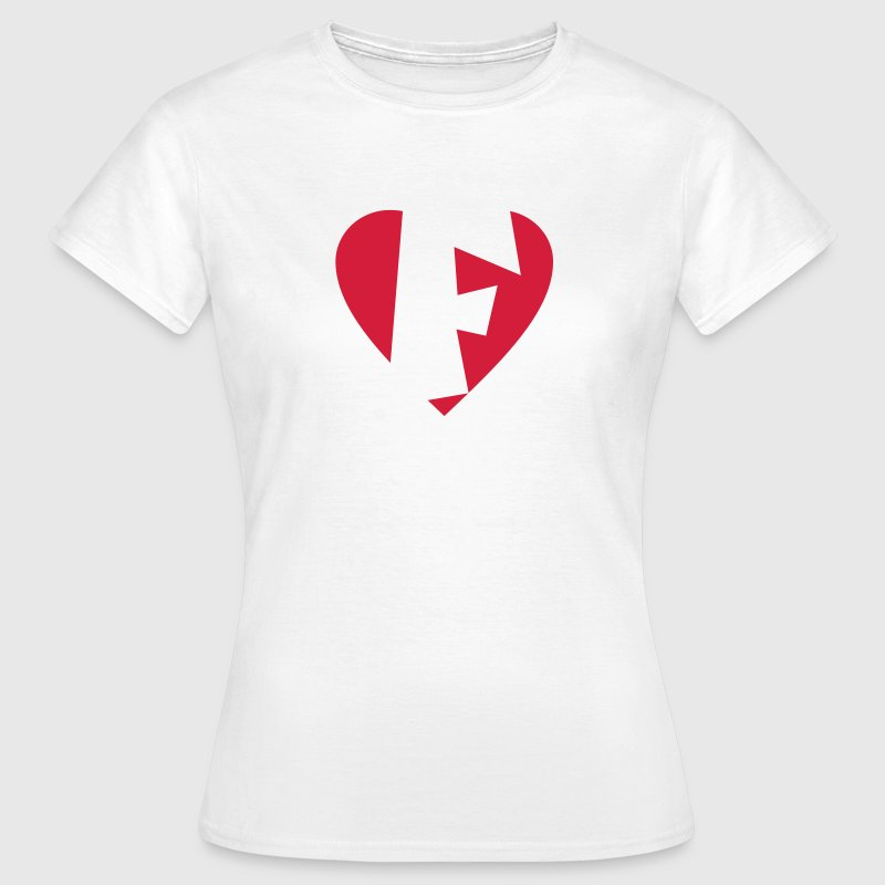 I love F T-Shirt - Heart F - Letter F - Women's T-Shirt