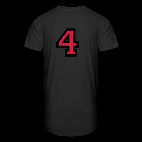 Nummer 4 T-Shirt - Männer Urban Longshirt