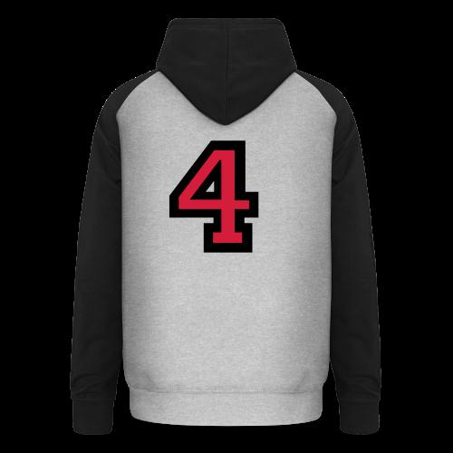 Nummer 4 T-Shirt - Unisex Baseball Hoodie