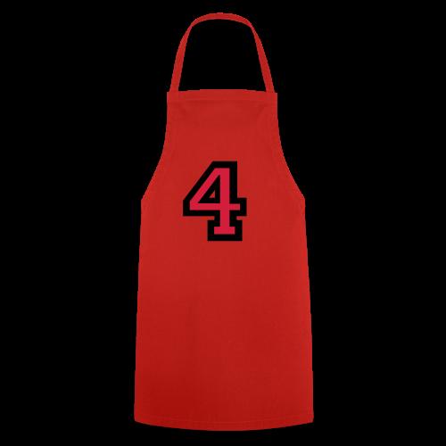 Nummer 4 T-Shirt - Kochschürze