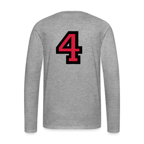 Nummer 4 T-Shirt - Männer Premium Langarmshirt
