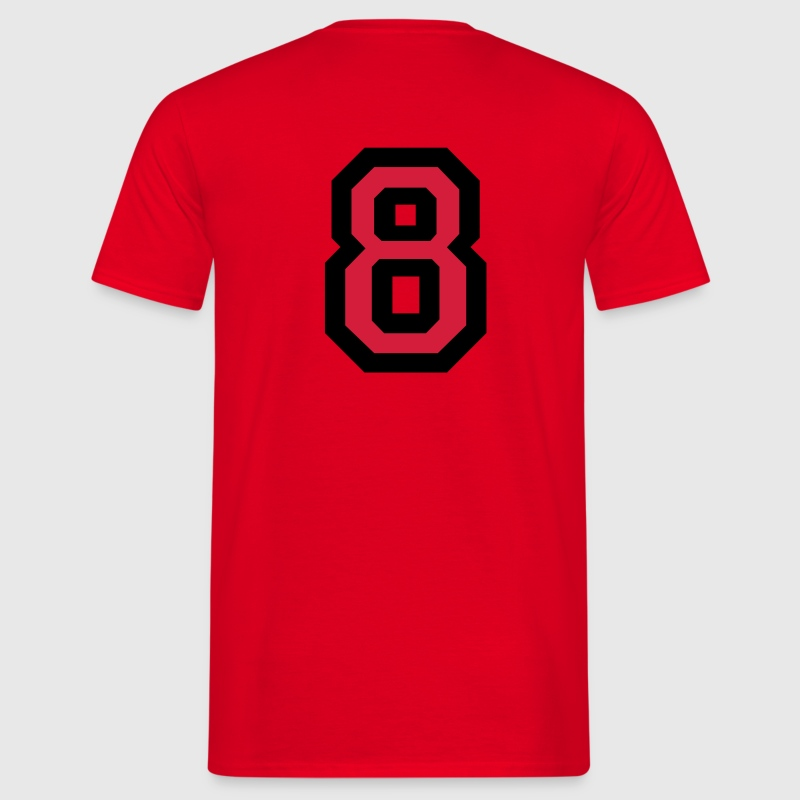 Number 8 T-Shirt - Men's T-Shirt