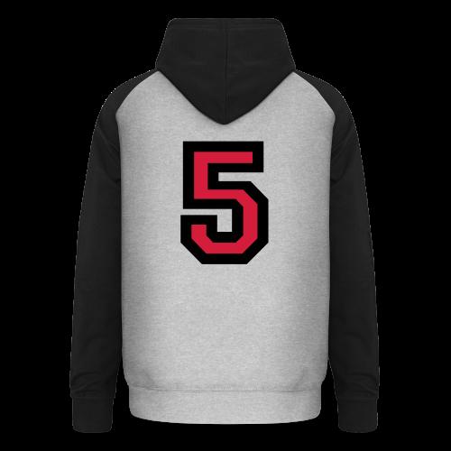 Nummer 5 T-Shirt - Unisex Baseball Hoodie