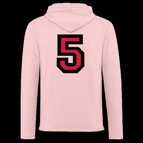 Nummer 5 T-Shirt - Leichtes Kapuzensweatshirt Unisex