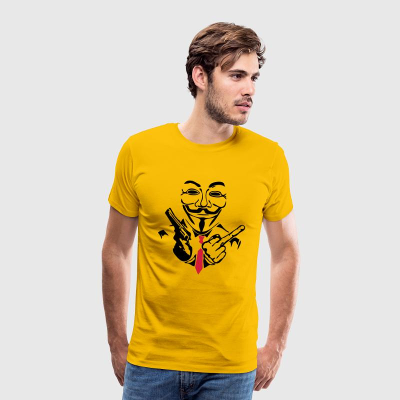 anonymous masque mask fuck pistolet flin Tee shirts - T-shirt Premium Homme