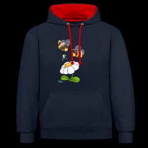KinderShirt Hummelchen und Pummelchen - Kontrast-Hoodie