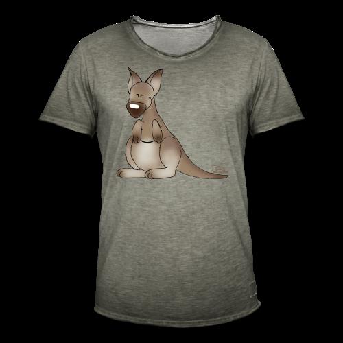 KinderShirt Kicherndes Känguruh - Männer Vintage T-Shirt