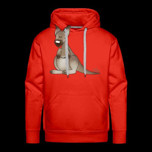 KinderShirt Kicherndes Känguruh - Männer Premium Hoodie