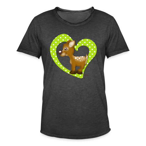 TeenieShirt Kira Kitzi Äpfelchen - Männer Vintage T-Shirt