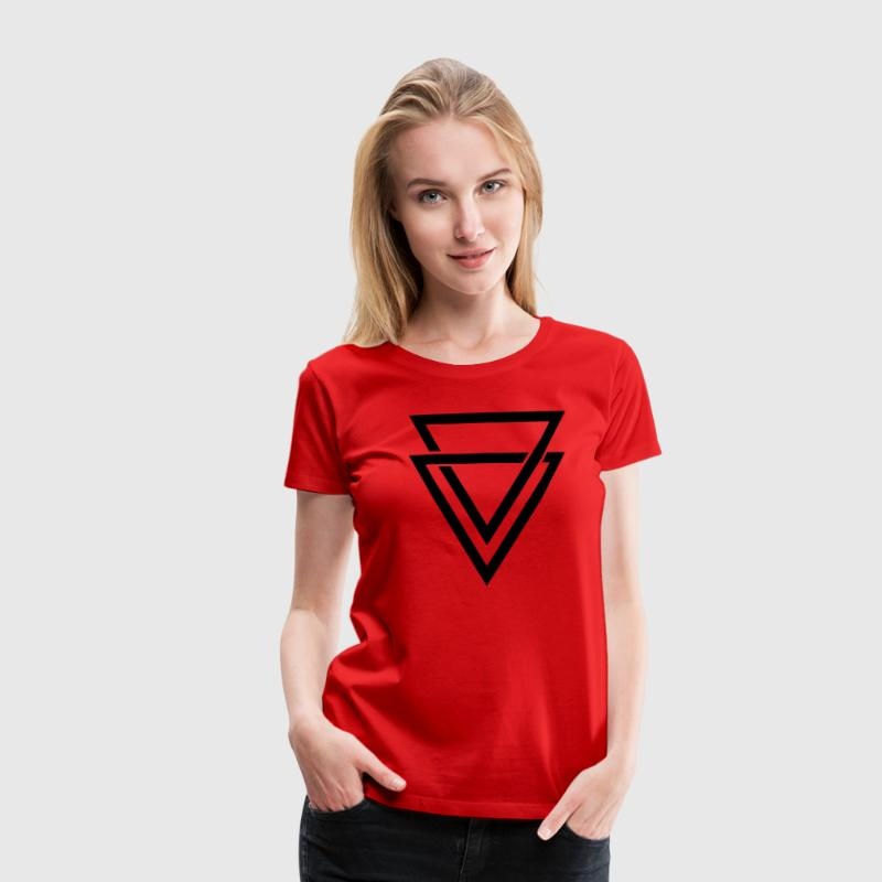 double triangle Tee shirts - T-shirt Premium Femme