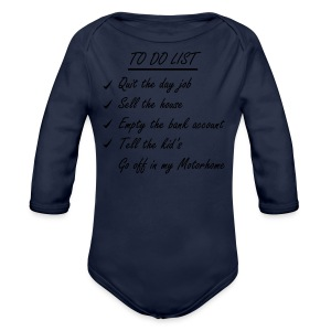 To do list - motorhome t-shirt - Longlseeve Baby Bodysuit