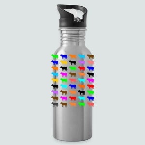 Multi Color Kühe, T-Shirt Herren - Trinkflasche