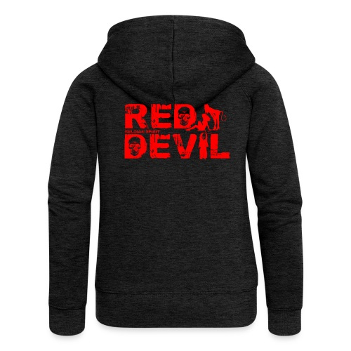 BELGIAN-RED-DEVIL  - Veste à capuche Premium Femme