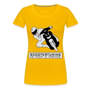 Scootertuning is not a crime II - Frauen Premium T-Shirt