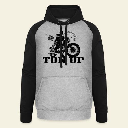 Ton Up black  - Unisex baseball hoodie