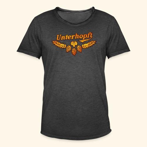 Unterhopft, distressed - Männer Vintage T-Shirt