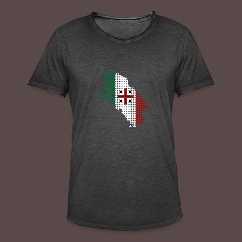 Sardegna, Tricolore Sardo (uomo) - Maglietta vintage da uomo