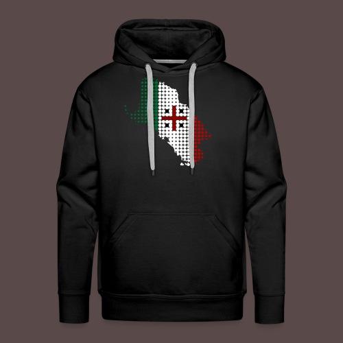 Sardegna, Tricolore Sardo (uomo) - Felpa con cappuccio premium da uomo