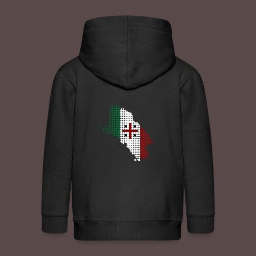 Sardegna, Tricolore Sardo (uomo) - Felpa con zip Premium per bambini