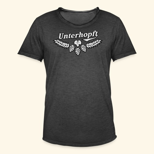 Unterhopft, Outline, Kerlie - Männer Vintage T-Shirt