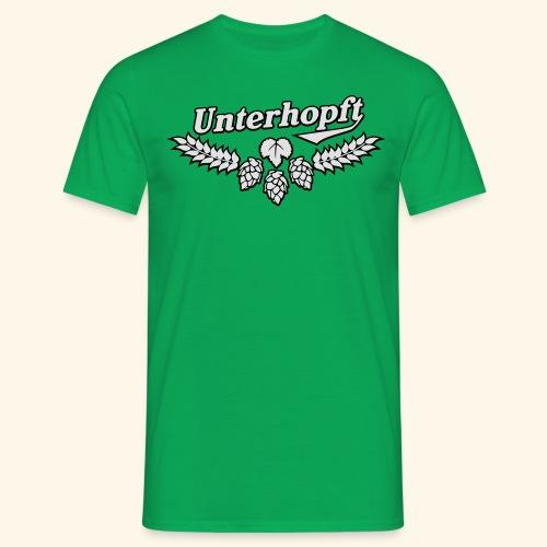 Unterhopft, Outline, Kerlie - Männer T-Shirt