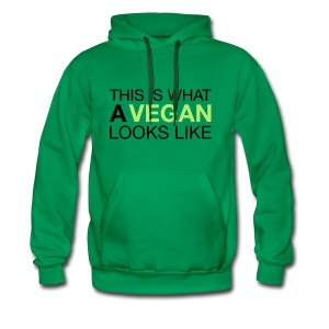 This Is What A Vegan Looks Like T-Shirts - Men's Premium Hoodie