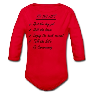 To do list - caravan t-shirt - Longlseeve Baby Bodysuit
