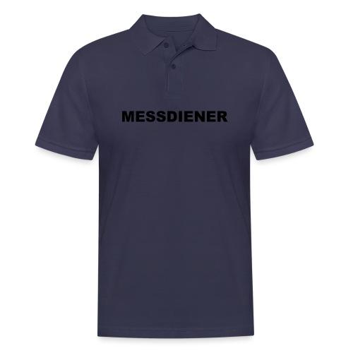 MESSDIENER - blue white (Boys) - Männer Poloshirt