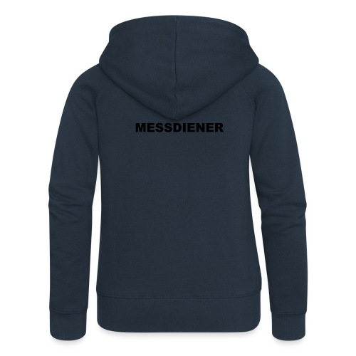 MESSDIENER - blue|white (Boys) - Frauen Premium Kapuzenjacke