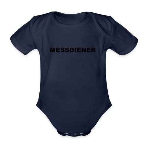 MESSDIENER - blue|white (Boys) - Baby Bio-Kurzarm-Body