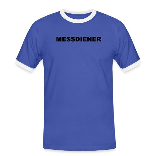 MESSDIENER - blue white (Boys) - Männer Kontrast-T-Shirt