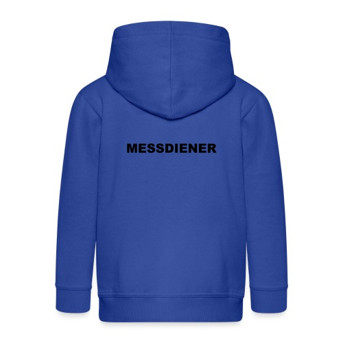 MESSDIENER - blue|white (Boys) - Kinder Premium Kapuzenjacke