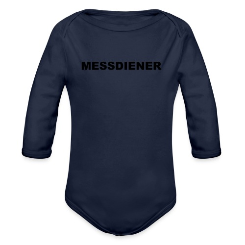 MESSDIENER - blue|white (Boys) - Baby Bio-Langarm-Body