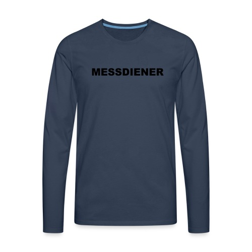 MESSDIENER - blue white (Boys) - Männer Premium Langarmshirt