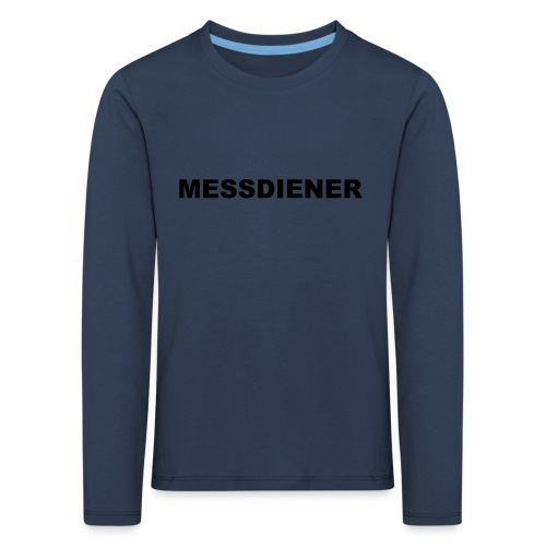 MESSDIENER - blue|white (Boys) - Kinder Premium Langarmshirt